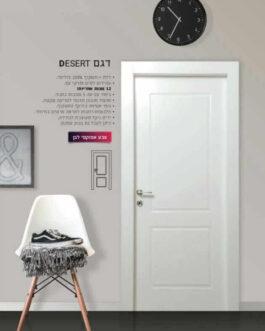 דלת פולימר לבן דגם – Desert