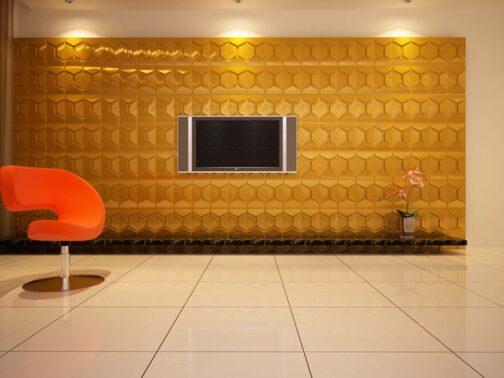 חיפויי קיר תלת מימדי דגם Comb בגודל 62.5_80 ס_מ
