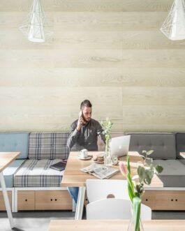 חיפוי קירות פולימרי 100% עמיד במים Kerradeco דגם Scandinavian Wood