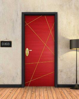 טפט תלת מימד דגם אדום פסי זהב מופשטים D303